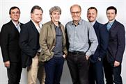 Bartle Bogle Hegarty management line-up: (l-r) global creative leader Gama, group chairman Sherwood, founders Hegarty and Bogle, chief operating officer Munn and chief executive Jones