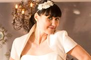 BT: Jane models a potential wedding dress