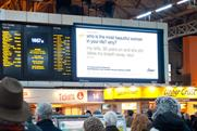 Dove: London's Victoria station hosts beauty brand's tweet screen