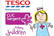 Tesco: supports CLIC Sargent children's charity