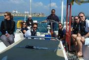 Captain of the ship: Tim Bleakley, CEO, Ocean Outdoor (second from right)