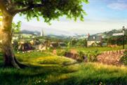 Calor Gas: sets TV spot in CGI English village