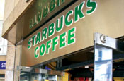 Starbucks: played down criticism of UK economy