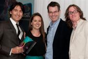 Freesat awards: Judge Ben Preston with E4's Ed Byrne, Paul Mortimer and Sarah Owen