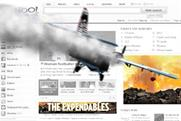 The Expendables: digital push features on Yahoo! homepage