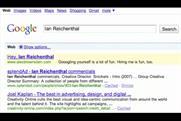 One of Brownstein's Google ads