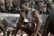 Tyson Gay: sprinter pictured on the starting line in Omega's Olympics ad