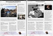 International Herald Tribune: launches news apps