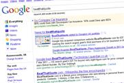 Google: drops BeatThatQuote from natural search results