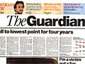 The Guardian: notable increase in readership