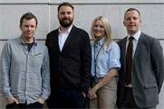 Anomaly: (l-r) Smith, Beale, Holder and Moore form the senior line-up at the London agency