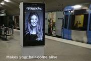 Swedish subway digital stunt sends billboard woman's hair flying