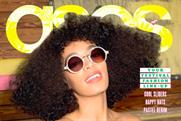 Asos: Solange Knowles on the cover of the brand's magazine, June 2014 issue