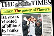 The Times: cover features flower fashion