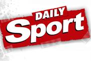 Going down: circulation of the Daily Sport has declined despite last April's relaunch