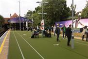 Wimbledon: FedEx turns Southfields station into a lawn tennis court