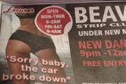 Beavers Strip Club & Bar: ASA rules that ad is likely to cause offence