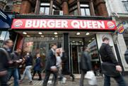 Burger King has renamed the Tottenham Court Road outlet 'Burger Queen'