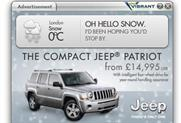 Jeep: rolls out cold-weather-themed ads in run-up to Christmas