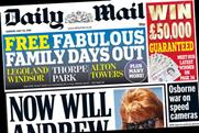 The Daily Mail: Family days out and the promise of £50,000