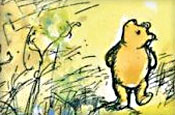 Winnie the Pooh: drawing by EH Shephard