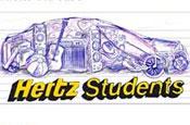 Hertz website: features dedicated students section