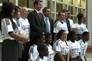 Jeremy Hunt and Justin King: join school children to promote the 2012 School Games