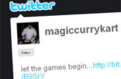 Magic Curry Kart: involving customers via Twitter