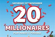 Camelot rolls out £5m marketing drive to celebrate 20 years of National Lottery