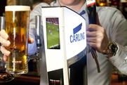 Carling to entertain pubgoers with football clips while pints are poured