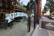 Pop-up shops have been opened by brands including Castello