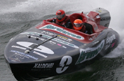 Claygate Offshore Powerboat team: sponsored by Airwaves