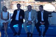 Launching DailyMailTV: (from left) Pennington, Clarke, Dr Phil McGraw, Jay McGraw