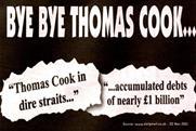 Ryanair: 'bye bye Thomas Cook' campaign