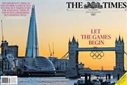 The Times: runs Olympic cover wrap