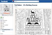 Ted Baker: launches 'rutting season' Facebook campaign