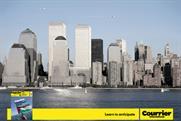 Courrier International: Twin Towers print ad slammed