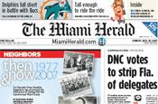 Miami Herald: fall in second quarter ad revenues
