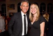 Gary Lineker: pictured with Walkers marketing diretor Miranda Sambles