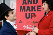 Mills and Boon: reconcile with Virgin Trains for Comic Relief