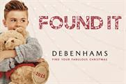 Debenhams: launches Found It Christmas campaign