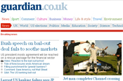 Guardian: published by Guardian News and Media