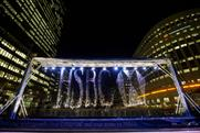HSBC: creates an interactive water display with WaterAid in Canary Wharf