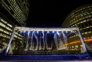 HSBC WaterAid display at London's Canary Wharf