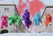 Argos sends ice-skating rainbow-coloured yetis through the streets in Christmas campaign