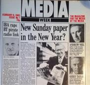 Media Week's first edition on 8 February, 1985