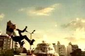 Miller ad: rollerskating theme