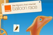 Orange: balloon race