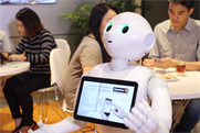Pepper is powered by IBM's Watson AI, and can respond to human emotions
