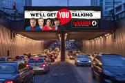 TalkRADIO digital outdoor ads will show real-time opinions and stories